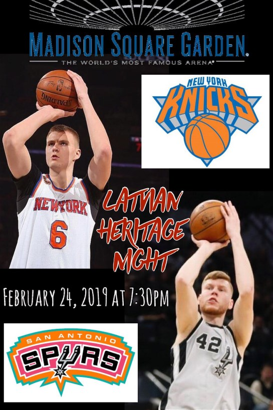 NY- 2nd Latvian Heritage Night with the NY Knicks